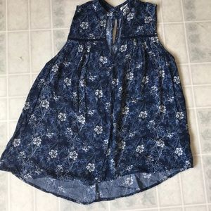 Stitch fix Sophie Rue fly Away blue floral tank